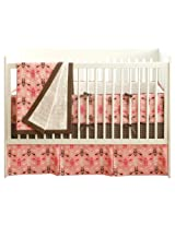 JJ Cole 4 Piece Crib Bedding Set in Pink Vintage