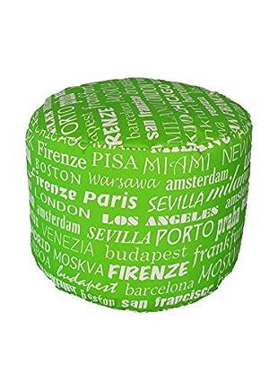 13 Casa Pouf Cilindro grün 40 x 40 x 40 cm