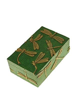 The Niger Bend Rectangular Soapstone Box with Dragonfly Design