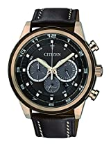 Citizen Brown Leather Analog Men Watch CA4037 01W