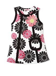 Beetlejuice London Girl's Azalea Floral Print A-Line Dress (Black/pink)