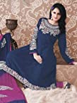 Blue Purple Georgette Zari Work:wdv30083