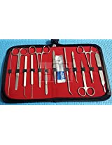 22 PCS LAB BIOLOGY ANATOMY MEDICAL STUDENT DISSECTING DISSECTION KIT WITH SCALPEL BLADES #10 ( HTI BRAND)