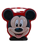 Mickey Mouse Cartoon Metal Kiddy Piggy Bank - Red - Coin Box, Money Safe for Kids