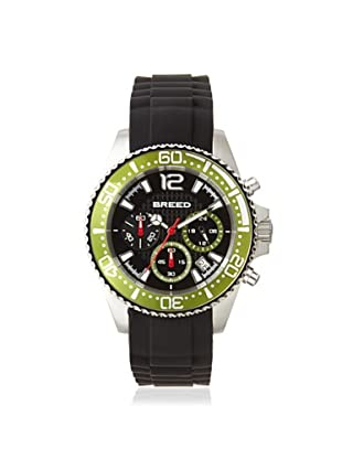 Breed Men's BRD2404 Genaro Black/Green Chronograph Watch