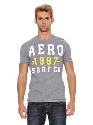 Aeropostale Camiseta Aéro1987 Surf (Gris)