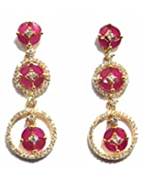 Shingar ksvk jewels Shingar Jewellery Red gold-plated Dangle & Drop Earring For Women