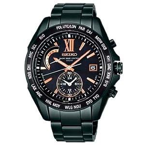 【クリックで詳細表示】[セイコー]SEIKO 腕時計 BRIGHTZ ブライツ ワールドタイム 電波ソーラー ブライトチタン ブラックダイヤル ブラックIP ネット/量販店流通限定 【数量限定】 SAGA101 メンズ