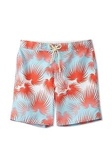 Strong Boalt Men's Fan Palms Classic Boardshorts (Coral Sky)