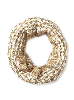 Verloop Women's Textured Weave Neckwarmer, Champagne