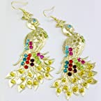 Colorful Peacock Earring -Jewellery-Barohk
