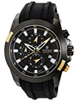 Titan Octane Multi-Function Chronograph Black Dial Men's Watch - 9482KP01J