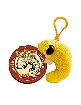 GIANTmicrobes Bookworm Plush Keychain