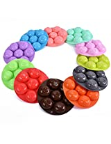 1pc Smile Face Silicone Ice Cube Round Ball Mould Tray(random color)