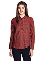 People Women's Button Down Shirt