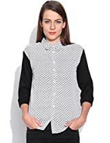 Silly People Women's Printed Shirt :- Black (Size : Small)