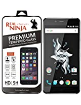 Real Ninja Premium Tempered Glass Screen Protector For One Plus X