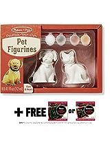 Pet Figurines Decorate-Your-Own Kit + FREE Melissa & Doug Scratch Art Mini-Pad Bundle [88664]