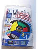 3-In-1 Plug N Play TV Board Game featuring Battleship, Simon, & Checkers
