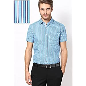 Code Slim-Fit Formal Shirt - Aqua Blue