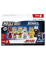 3D Character Creator City Heroes Deluxe Refill Pack Novelty Toy