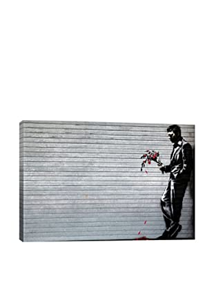 Banksy Lonely Man Holding Flowers Giclée Canvas Print