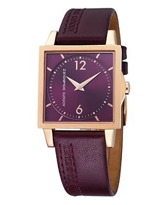 Adolfo Dominguez Watches 69188 - Reloj de Señora cuarzo correa de piel Granate