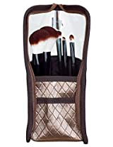 Danielle Upright 7 Piece Makeup Brush Set, Bronze