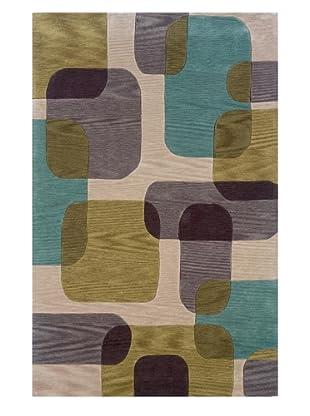 Trade-Am Fashion Squares Rug (Ivory)