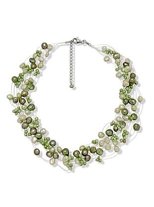 Valero Pearls 60200105 - Collar de mujer de plata con perla cultivada de agua dulce, 48 cm