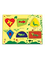 Skillofun Fun Geo Shape Tray - Insects (Raised), Multi Color
