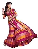 Attractive Multicolor Party Wear Saree Zari Work Cotton Sari