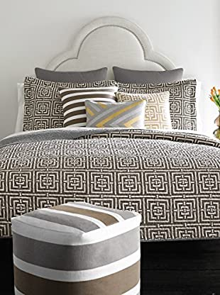 Happy Chic by Jonathan Adler Laura Reversible Full/Queen Quilt, Grey/White