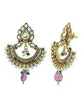 Aakshi Pearl Dangle & Drop Earings For Women ( Gold )