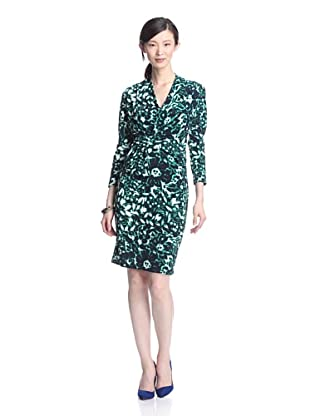 Eva Franco Women's Attica Draped Dress (Green Marble)