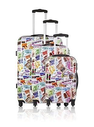 Travel ONE Set de 3 trolleys rígidos Betchley Multicolor
