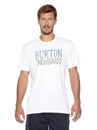 Burton Camiseta Classic Horz Slim Fit (Blanco)