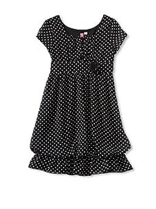 Hype Girl's Sweet Dot Dress (Black)