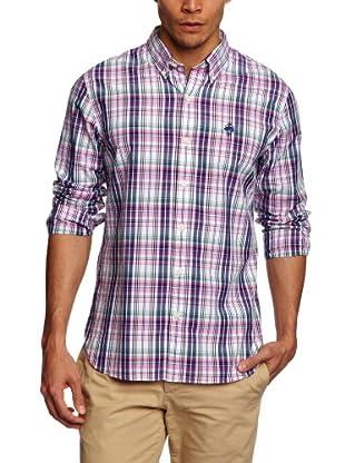 Brooks Brothers Camisa Madeline (Azul / Rosa)