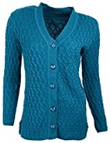 Casanova Women's Long Sleeve Cardigans (7016, Blue, L)