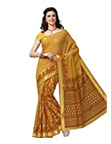 Suhanee Cotton Traditional Saree (Dulhan 1038 _Yellow)