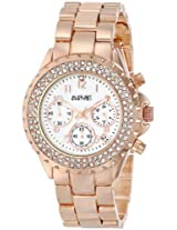 August Steiner Womens AS8031RG Crystal Mother-Of-Pearl Chronograph Bracelet Watch