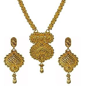 Pearl Paradise Filigree and Jadau work Rani Haar with matching earring for Women