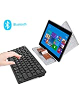 Rii BT09 Ultra Slim Portable Wireless Bluetooth Keyboard For Windows Devices ipad Mini iphone MacBook Pro Tablets PC Android Tablets Samsung Smart TV Box(Black,US)