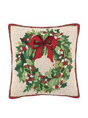 Peking Handicraft Classic Christmas Throw Pillow, Red/Green