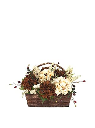 Creative Displays Brown & Cream Hydrangea Basket
