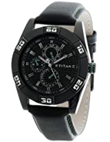 Titan Octane Analog Black Dial Men's Watch - 1603NL01