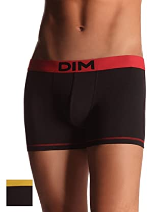 DIM Boxer Mix pack 2 Colors (Negro Cintura Roja/Amarilla)