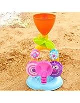 Baby Children Development Beach Bath Sand Hourglass Puzzle Waterwheel Swimming Paddling Truck Toy