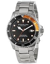 Stuhrling Original Aquadiver Analog Black Dial Men's Watch - 8326B.331157